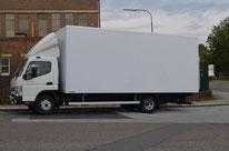 Lastwagen Weiß
